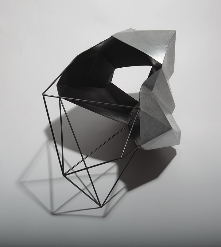Cécile Geiger-Sculpture-Fragment - Sculpture en metal, acier poli-Sculpture - photo 2