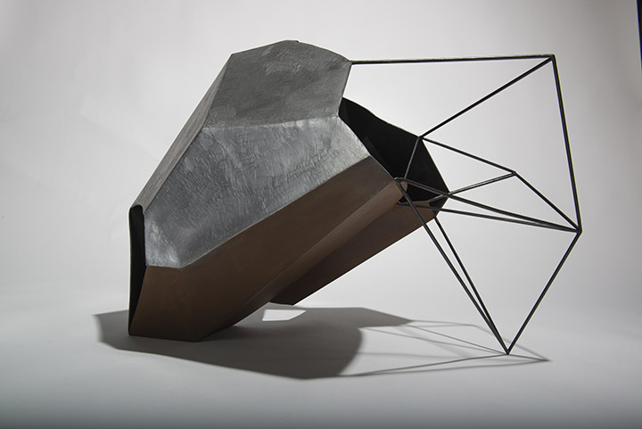 Cécile Geiger-Sculpture-Fragment - Sculpture en metal, acier poli-Sculpture - photo 3
