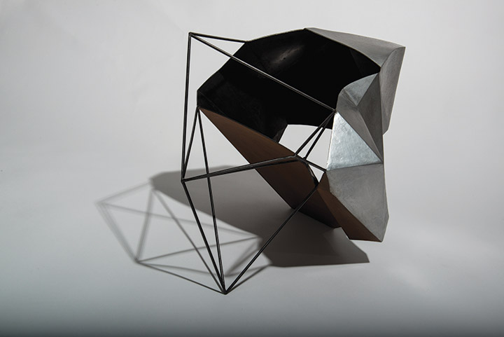 Cécile Geiger-Sculpture-Fragment - Sculpture en metal, acier poli-Sculpture - photo 4