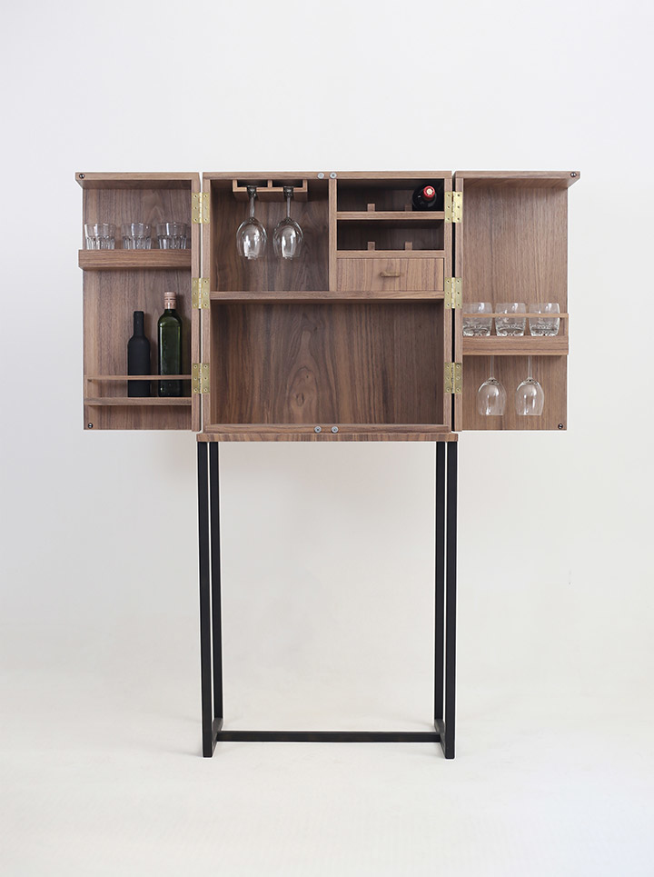 Gigi Design-Fabriquant - Agenceur - Menuisier - Ebeniste-Meuble de bar, coffre a Whisky Hiems
