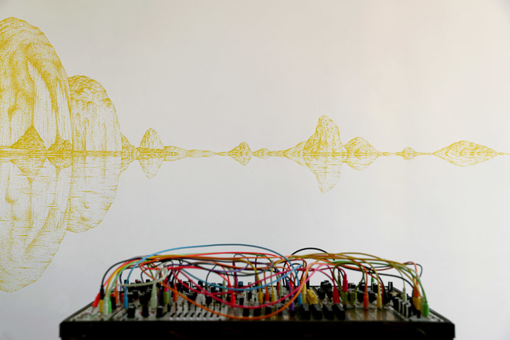 by R-Artiste peintre - Dessinateur-Horizon sonore, fresque contemporaine