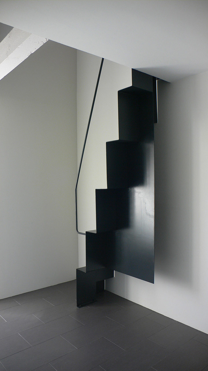 escalier contemporain artistique - Arch and Home