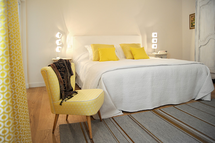 chambre jaune - decoration jaune - arch and home